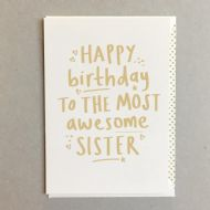Megan Claire 'Awesome Sister' Birthday Card